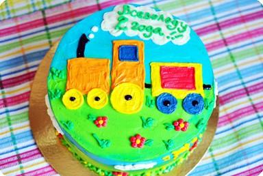 Торт «Паровозик»