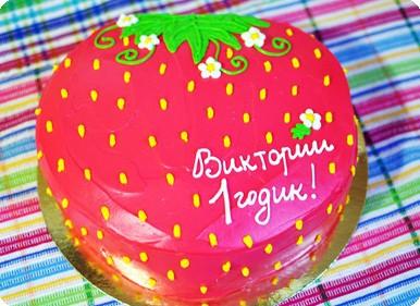 Торт-клубничка