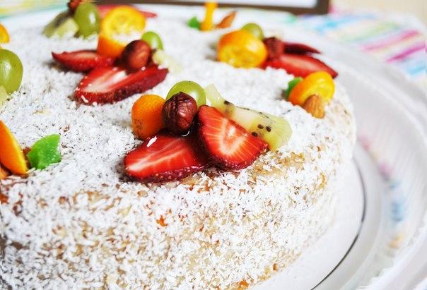 Торт орехово-кокосовый сыроедный