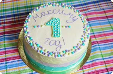 Торт в пастельных тонах