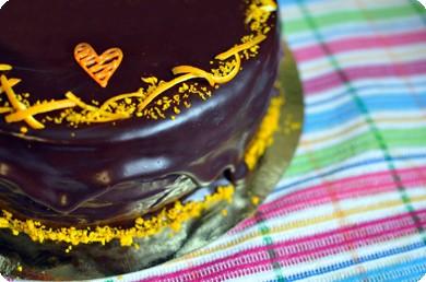 Торт с апельсиновой цедрой