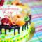 Торт с фруктовым венком