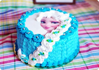 """Торт """"Холодное сердце"""" с Эльзой1"""