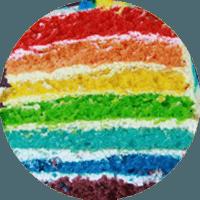 Радужный торт с сливочным кремом