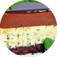 Торт «Мятный закат» (муссовый)