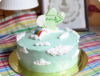 Торт с самолетиком