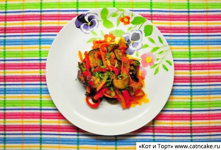 Как приготовить жареные овощи с перцем чили