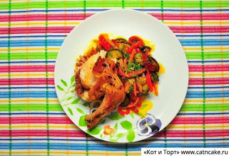 Как приготовить курицу с чесноком в духовке