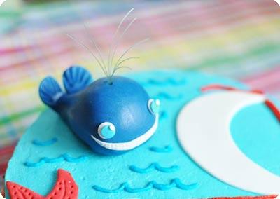 Морской торт с китом2