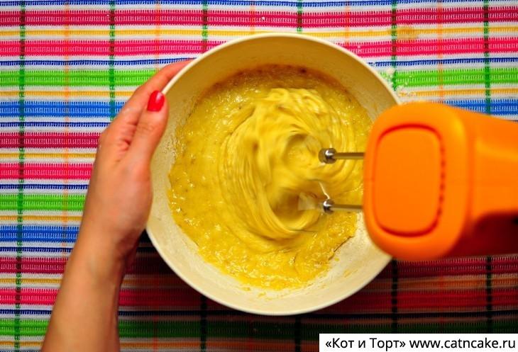 Как приготовить банановый пирог6