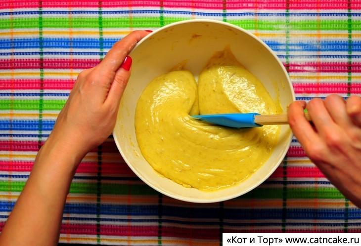 Как приготовить банановый пирог7