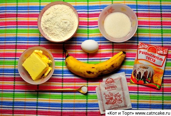 Как приготовить банановый пирог ингредиенты