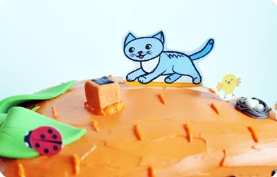Торт в виде морковного домика-4