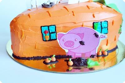 Торт в виде морковного домика-6