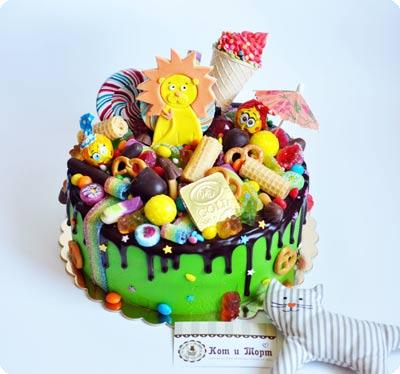 Яркий торт со львенком-2