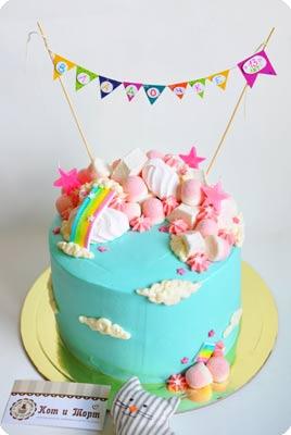 Небесный торт «Единорожка»-2