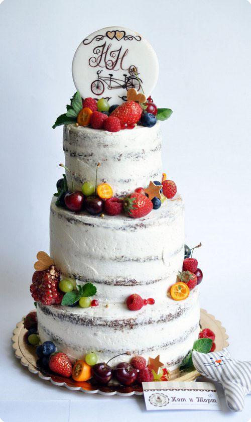 свадебный трёхъярсуный торт1