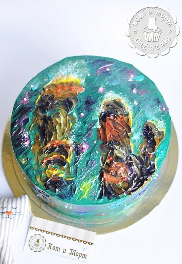 Торт с двумя галактиками