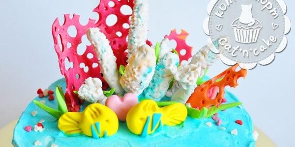 Торт с кораллами