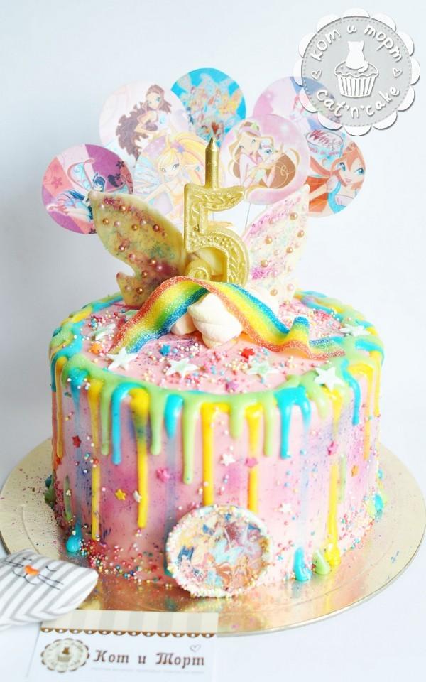 Торт с шоколадными крылышками