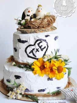 Торт «Птичье гнёздышко на берёзе»