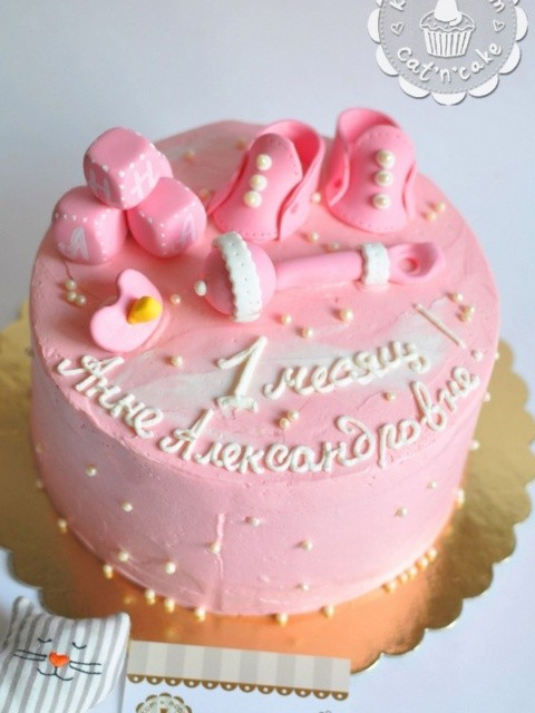 Розовый торт для Анны Александровны