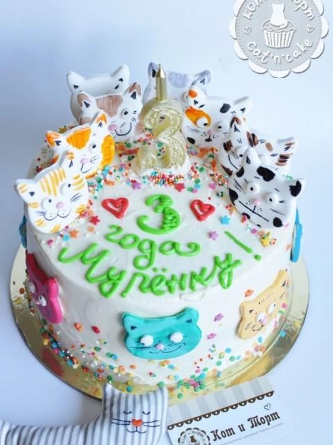 Торт с котами