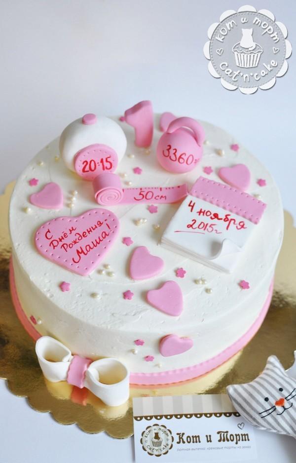 Торт на рождение дочери