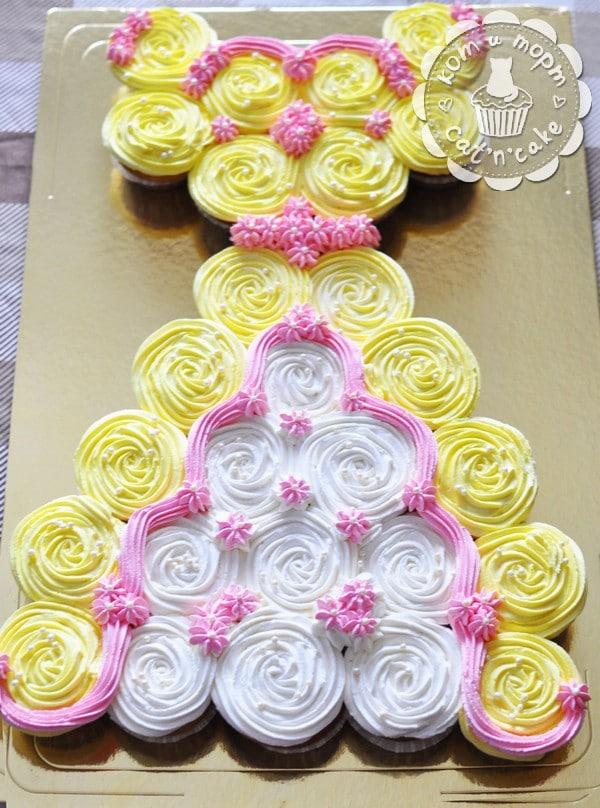 Торт-платье из 27 капкейков