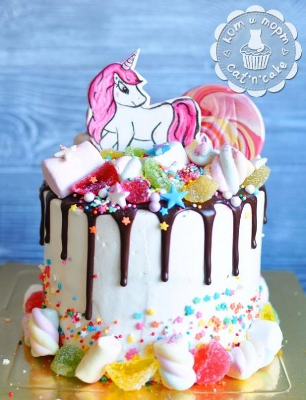 Торт с единорожкой!