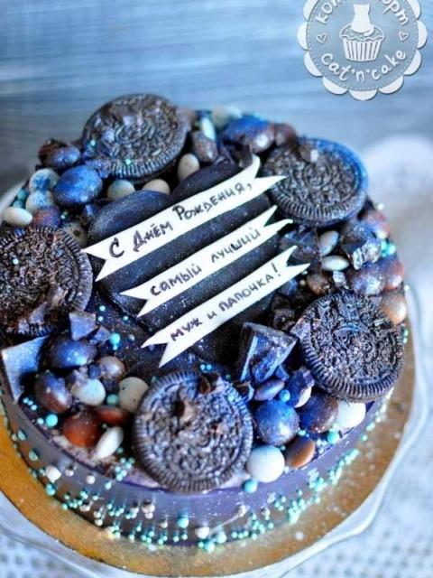 Космический торт для мужа