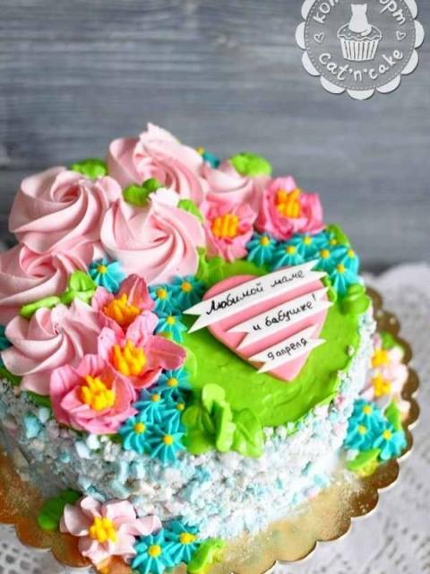 Торт с цветочками