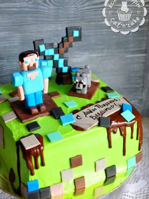 Торт «Minecraft»