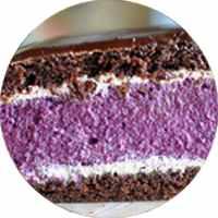 Торт «Черничный котик»