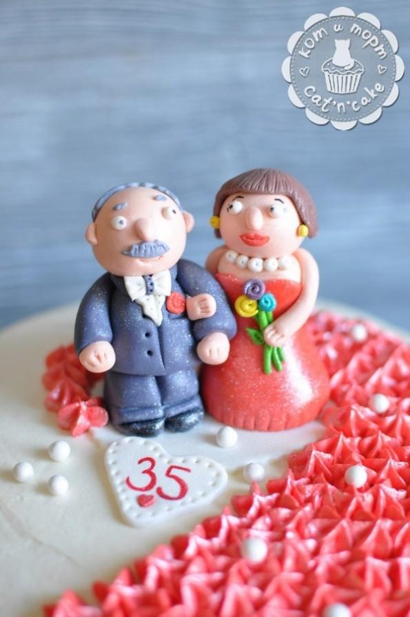 Торт на рубиновую свадьбу-2