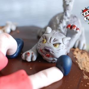 Торт с сюжетом из фильма ужасов cakerock