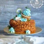 Торт «Наполеон» с капкейком