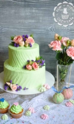 Торт с розами