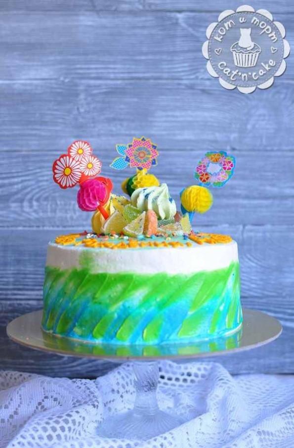 Торт с кренделябрами
