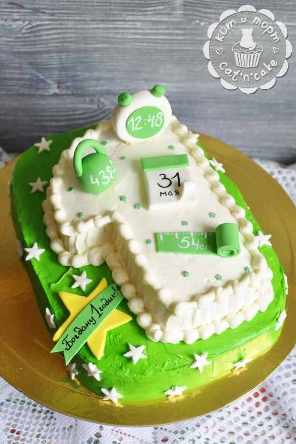 Торт на годик для мальчика