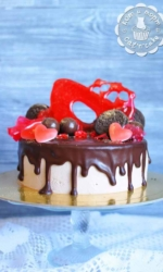 Торт с карамелью