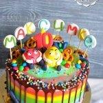 Весёлый торт с конфетами M&m`s