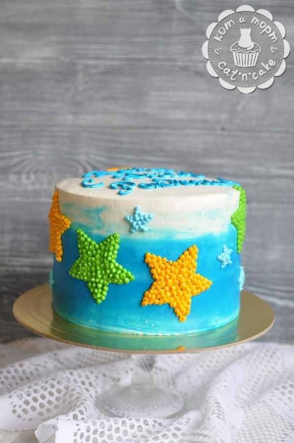 Торт с морскими звёздами