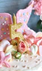 Торт с розовыми крыльями