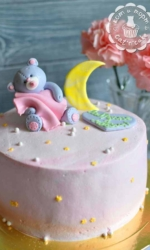 Торт с Мишкой и полумесяцем