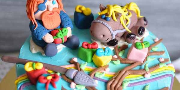 Торт с Одином и его конём Слейпниром