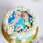 Торт «Холодное сердце»