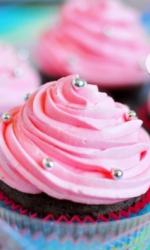 Капкейки розовые закрученные