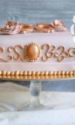 Торт с медальоном
