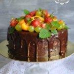 Летний шоколадный торт